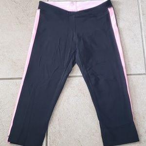 Lululemon Black Capri Legging with  pink accents